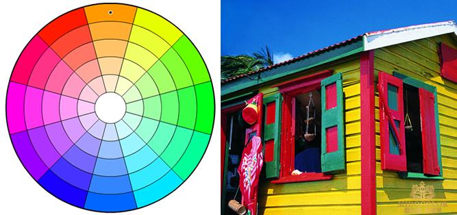 藝術涂料顏色搭配